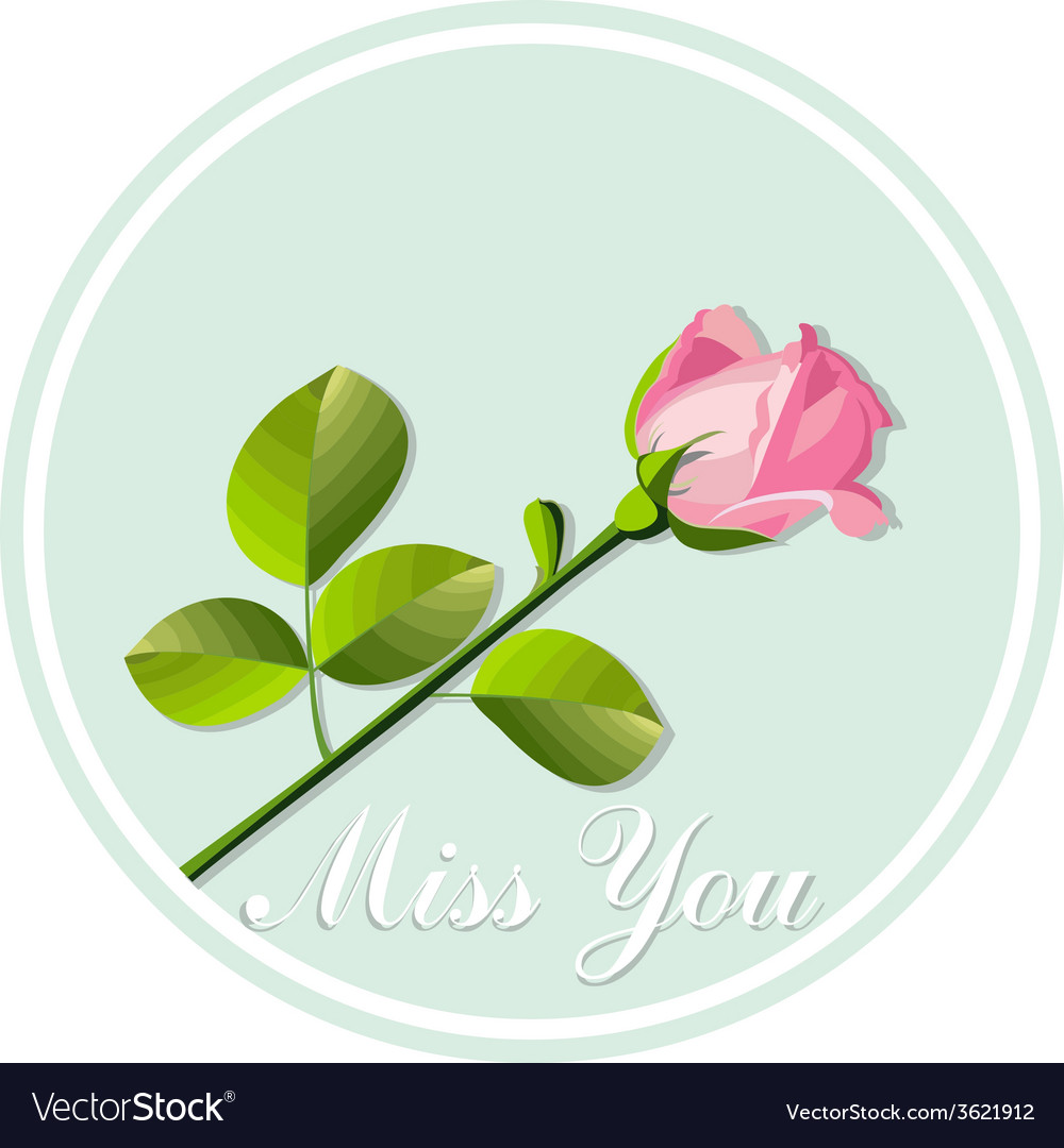 Card with rose vector | Price: 1 Credit (USD $1)