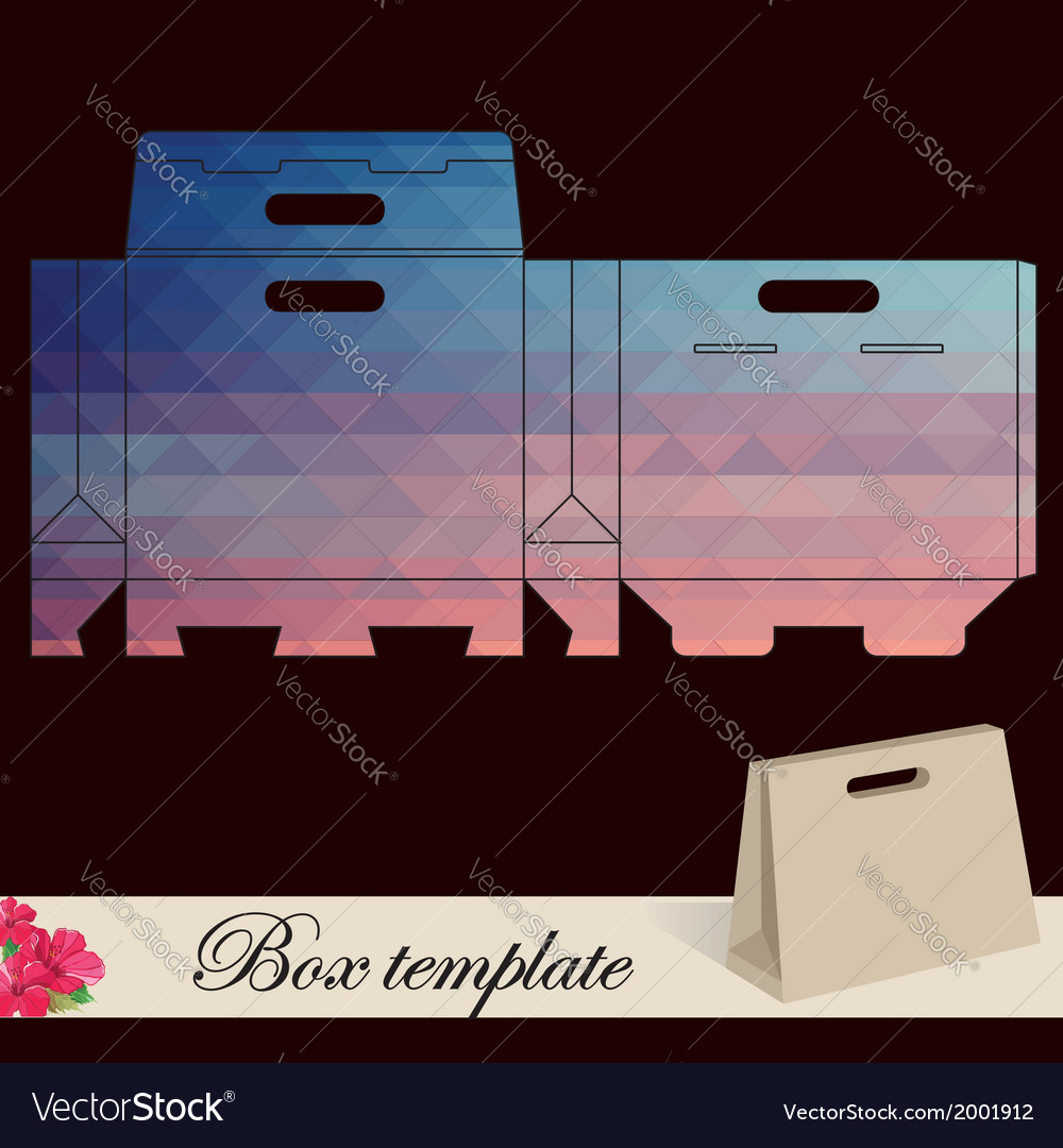 Gift box template vector | Price: 1 Credit (USD $1)