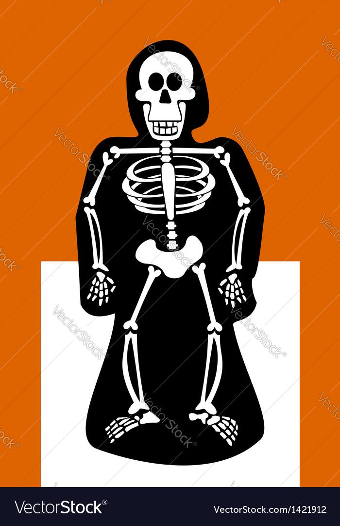Halloween background skeleton dressed in black vector | Price: 1 Credit (USD $1)