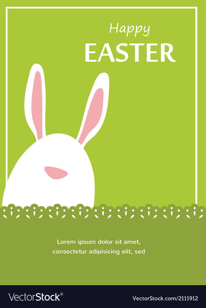 Happy hipster easter - set of stylish bunnyeggs vector | Price: 1 Credit (USD $1)
