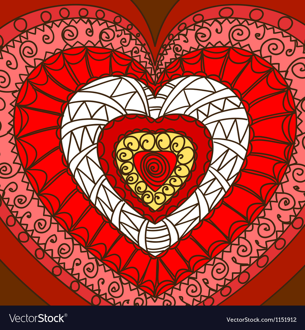 Ornament of hearts vector | Price: 1 Credit (USD $1)