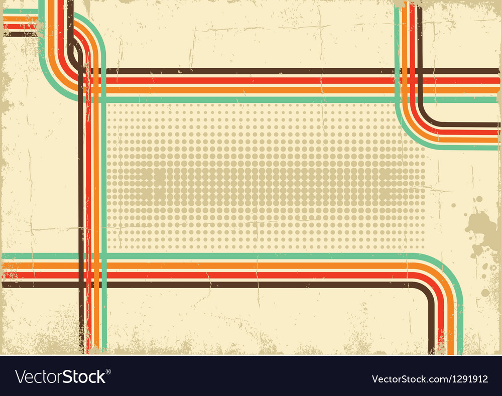 Retro background abstract poster on old paper vector | Price: 1 Credit (USD $1)
