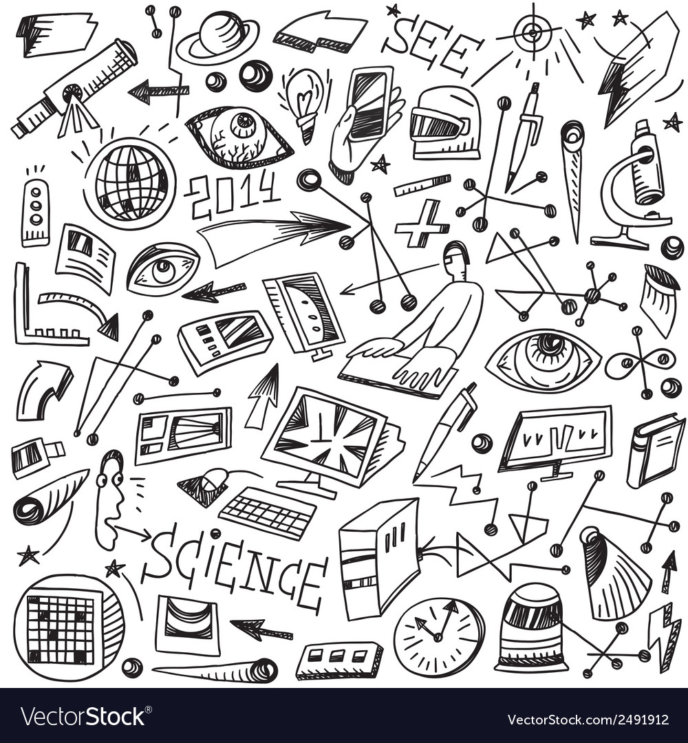 Science - doodles vector | Price: 1 Credit (USD $1)
