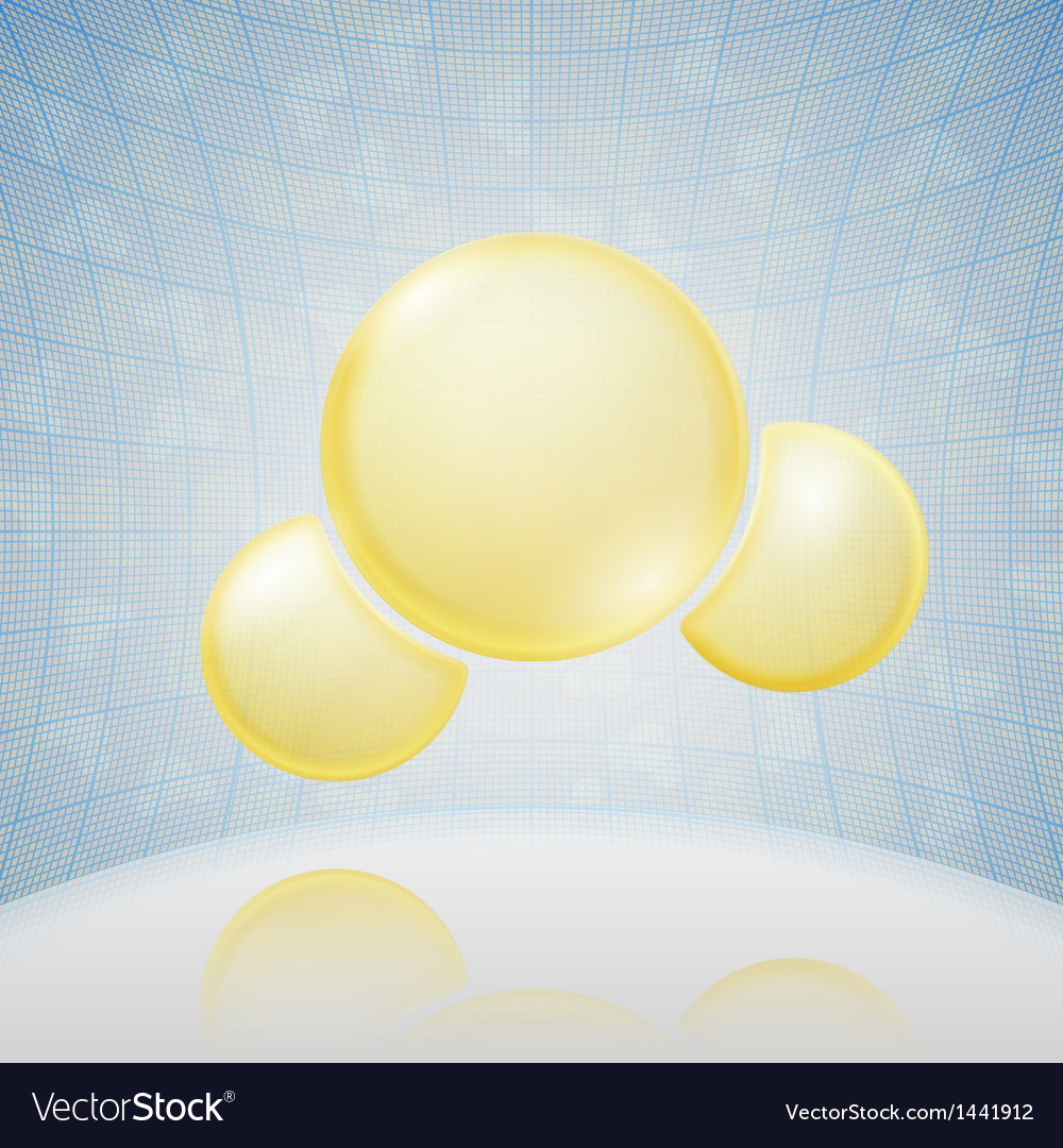 Science background yellow molecule vector | Price: 1 Credit (USD $1)