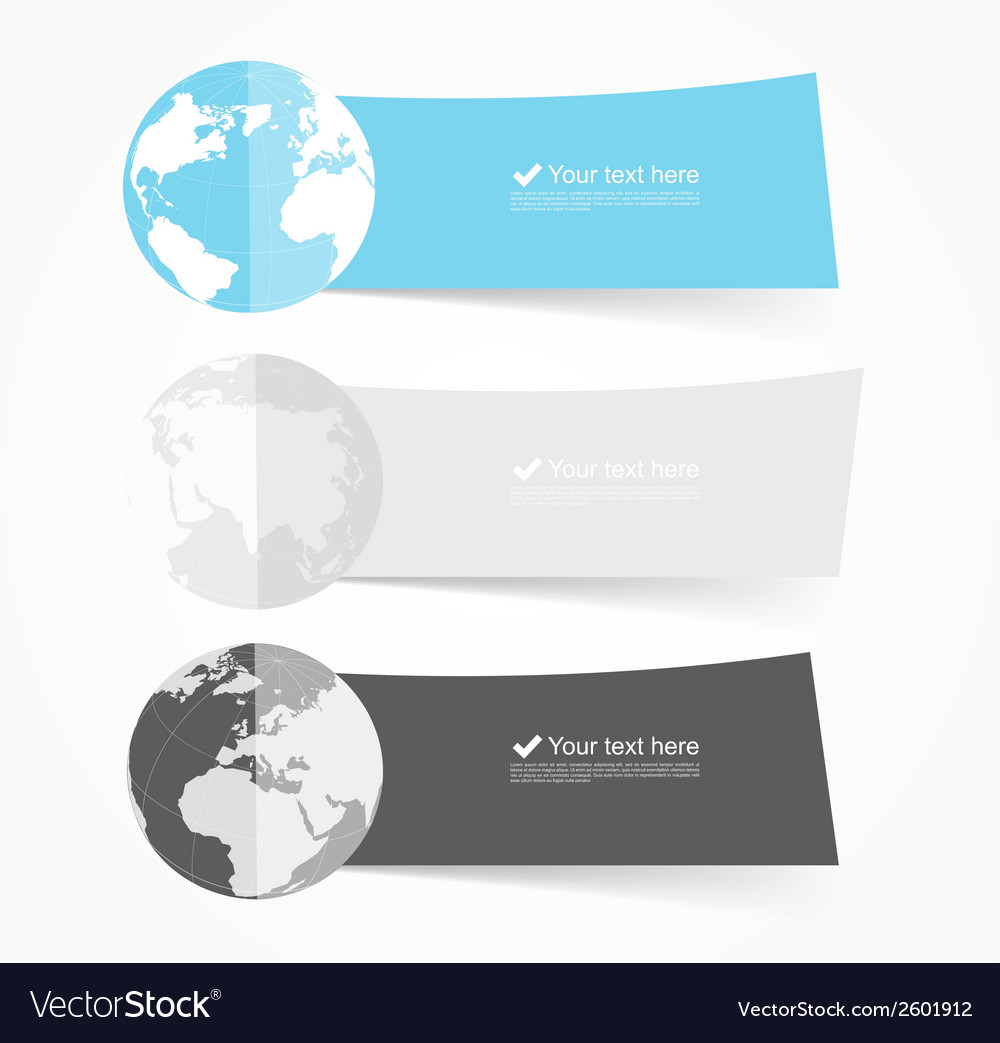 Set of flat banners vector | Price: 1 Credit (USD $1)