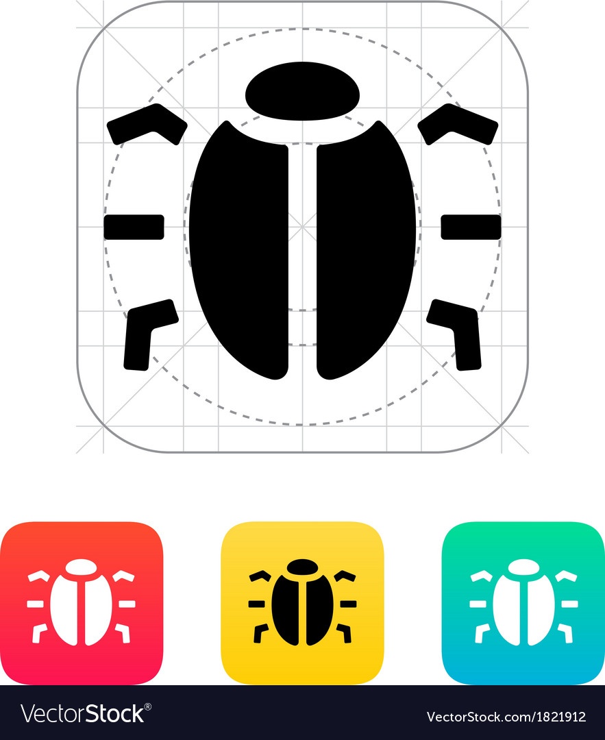 Spy bug icon vector | Price: 1 Credit (USD $1)