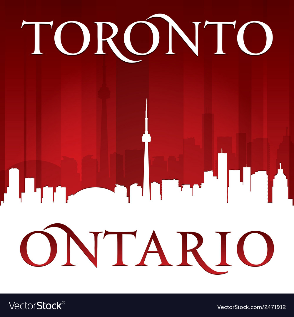 Toronto ontario canada city skyline silhouette vector | Price: 1 Credit (USD $1)