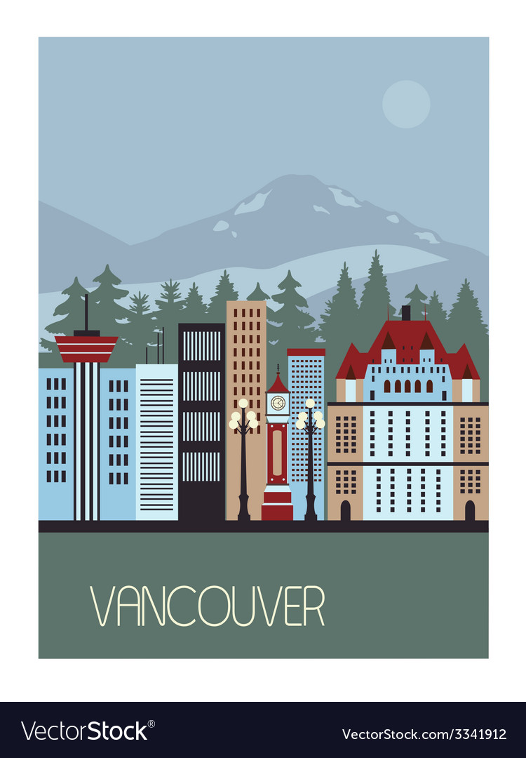 Vancouver canada vector | Price: 1 Credit (USD $1)