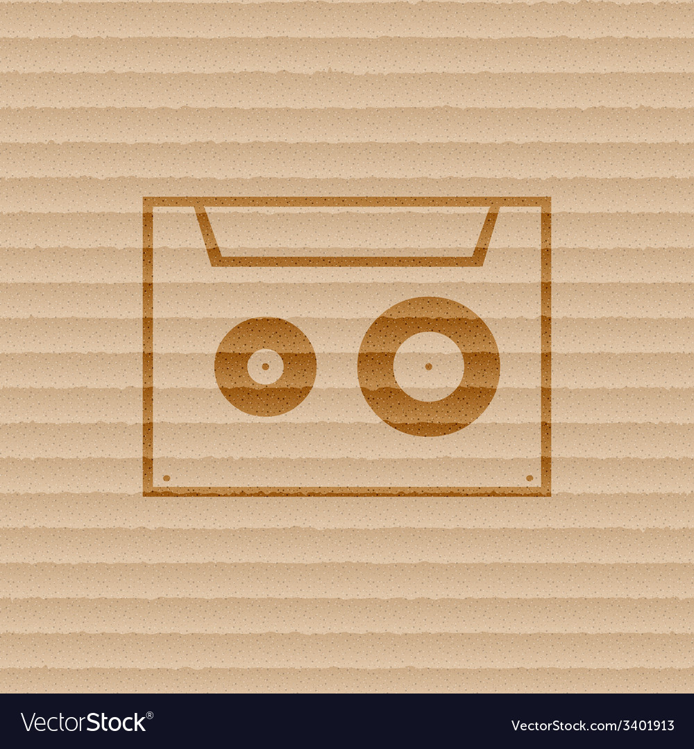 Cassette icon symbol flat modern web design with vector | Price: 1 Credit (USD $1)