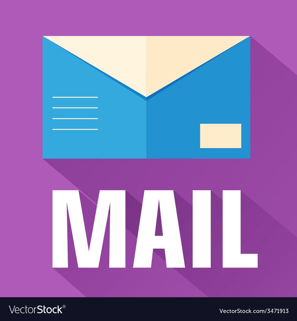 Flat envelope design concept vector | Price: 1 Credit (USD $1)