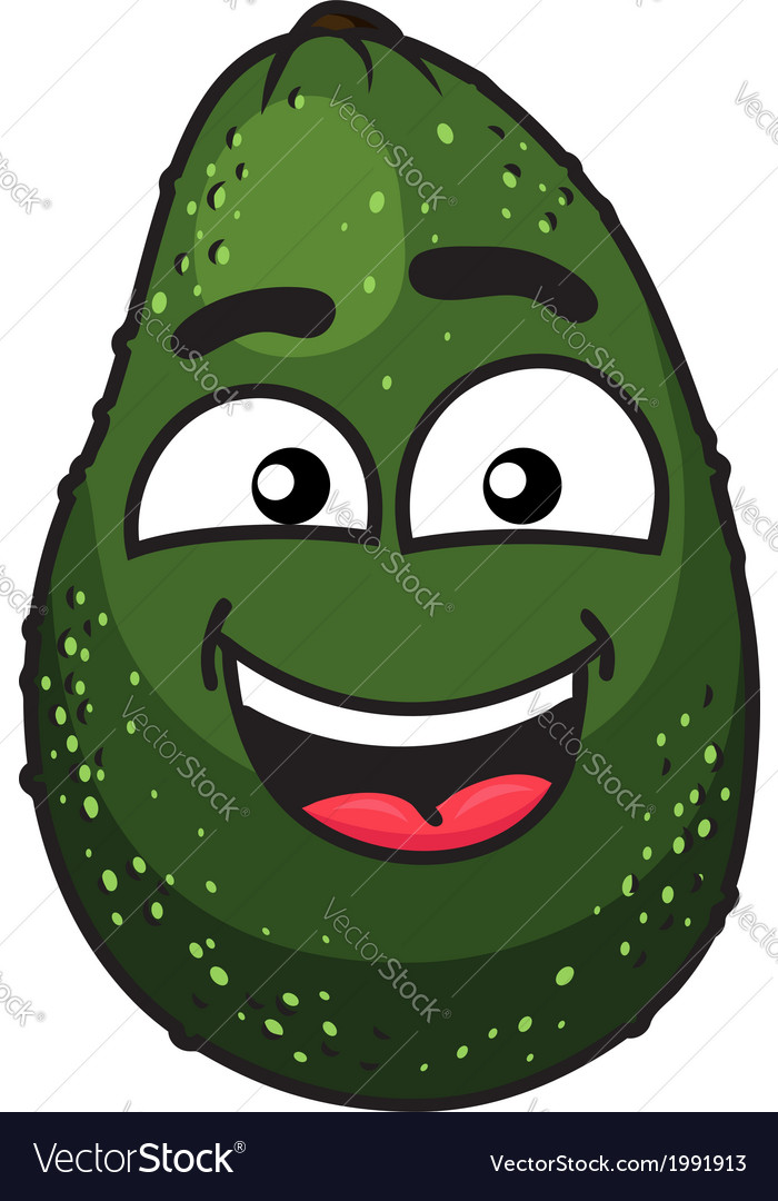 Green tropical avocado fruit vector | Price: 1 Credit (USD $1)