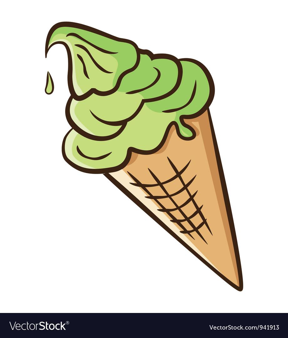 Ice cream cone vector | Price: 1 Credit (USD $1)