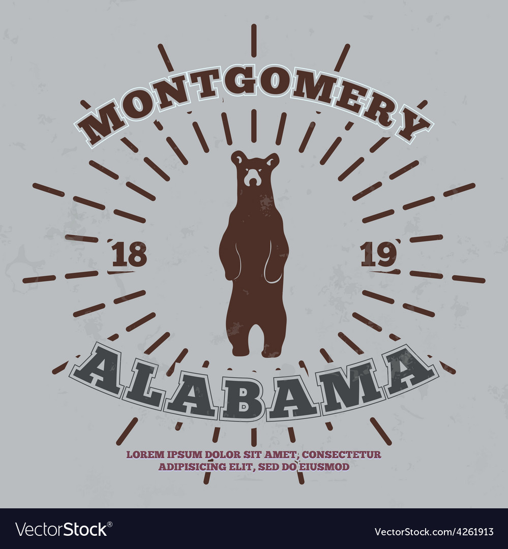 Montgomery alabama t-shirt graphic vector | Price: 1 Credit (USD $1)
