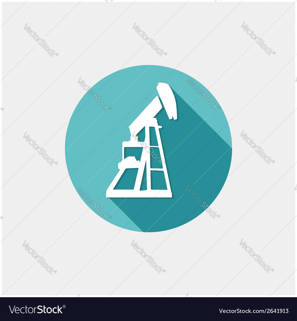 Oil industry button vector | Price: 1 Credit (USD $1)