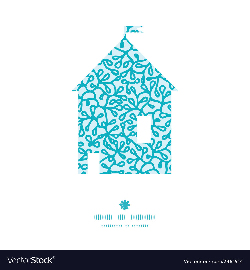 Abstract underwater plants house silhouette vector | Price: 1 Credit (USD $1)