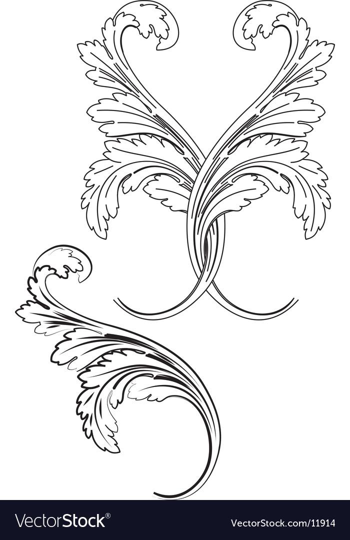 Baroque patterns vector | Price: 1 Credit (USD $1)