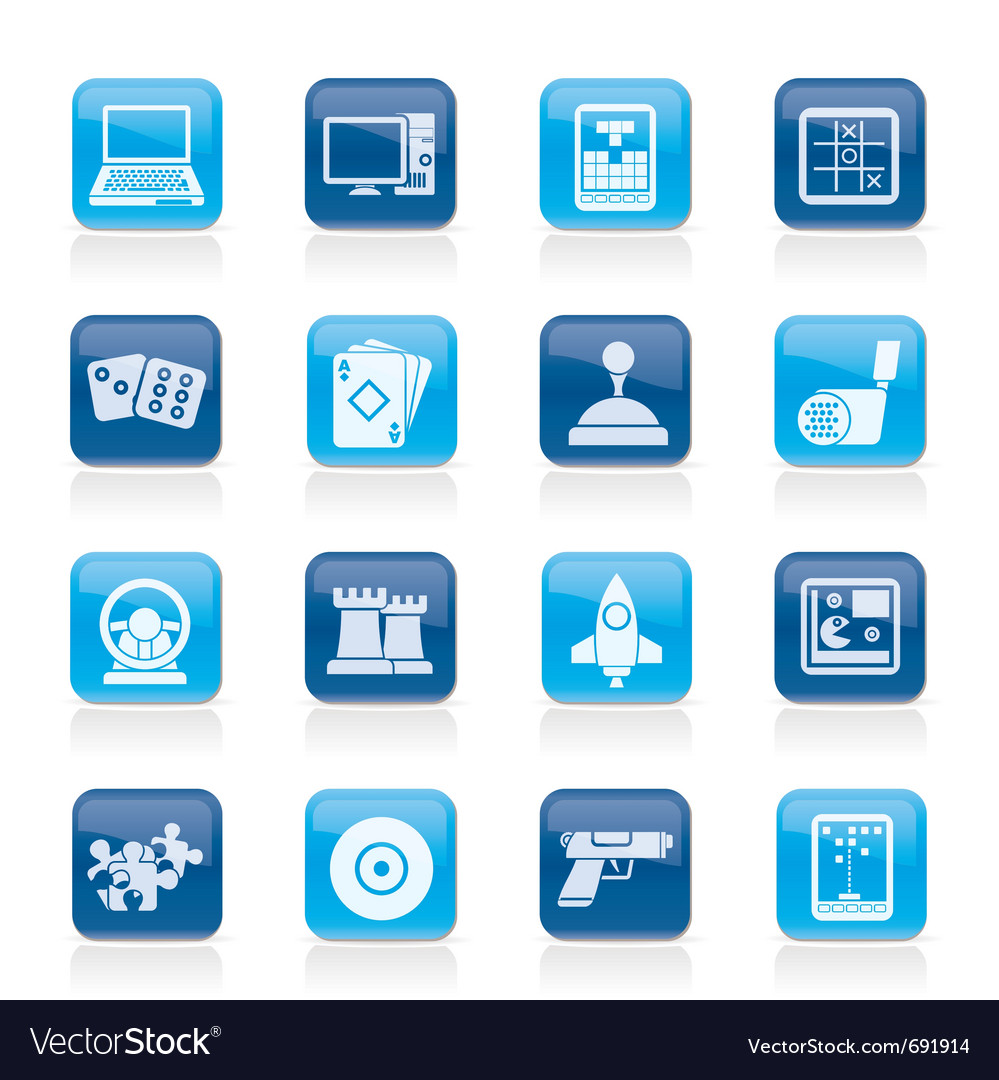 Computer games tools and icons vector | Price: 1 Credit (USD $1)
