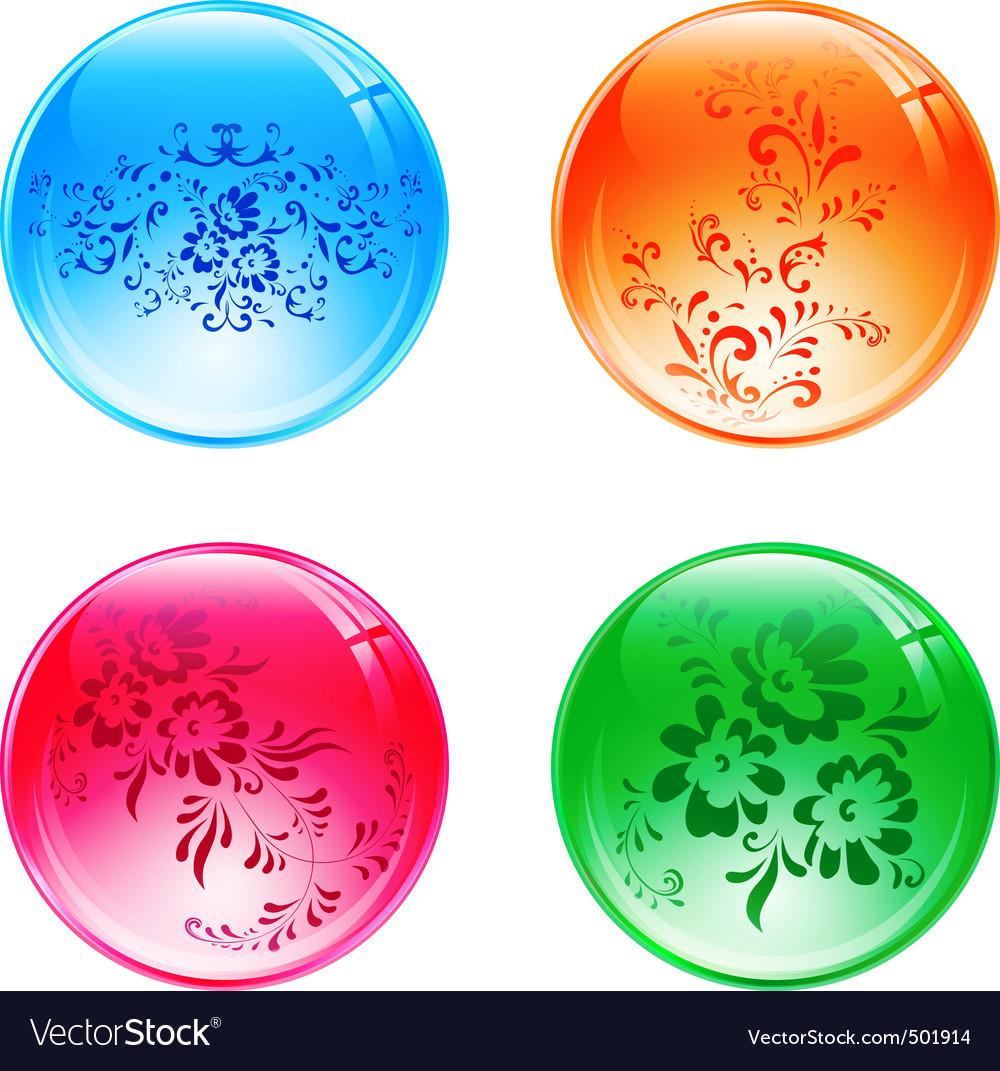 Floral balls vector | Price: 1 Credit (USD $1)
