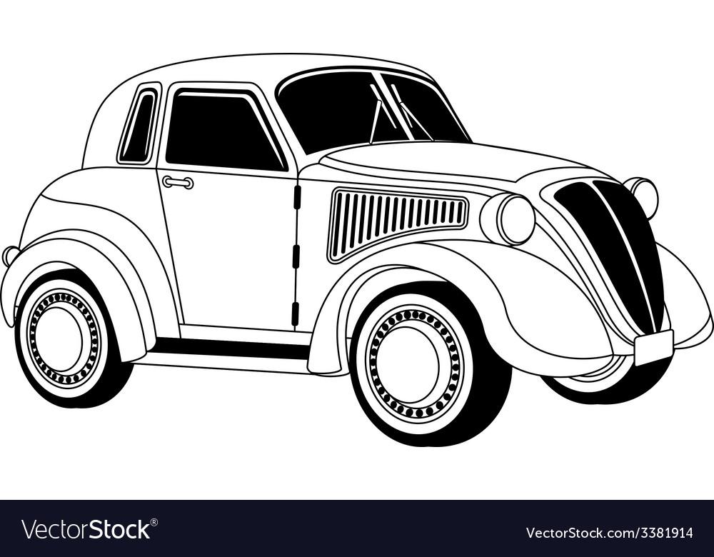 Old vintage car vector | Price: 1 Credit (USD $1)