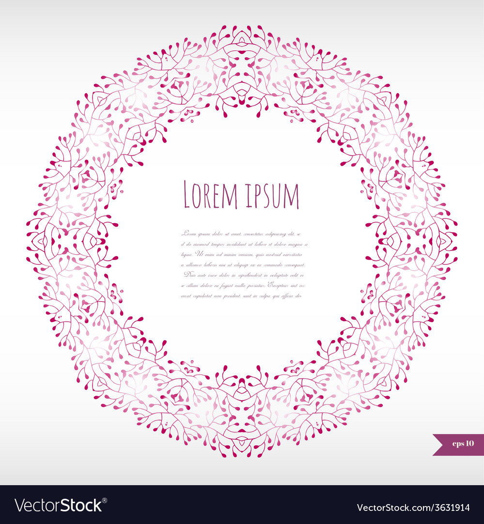 Omantic floral background with place for your vector | Price: 1 Credit (USD $1)