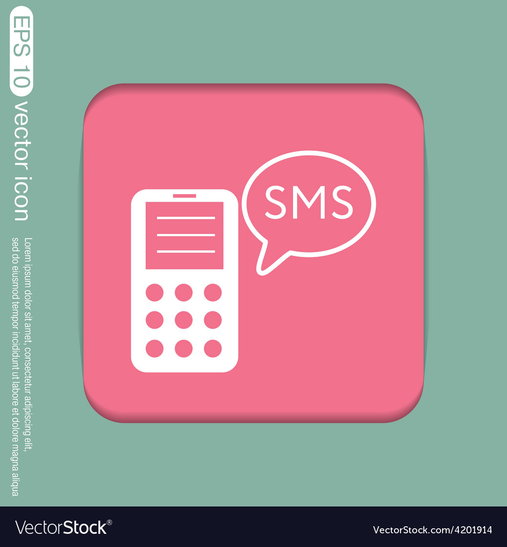 Smartphone with cloud of sms dialogue vector   Price: 1 Credit (USD $1)