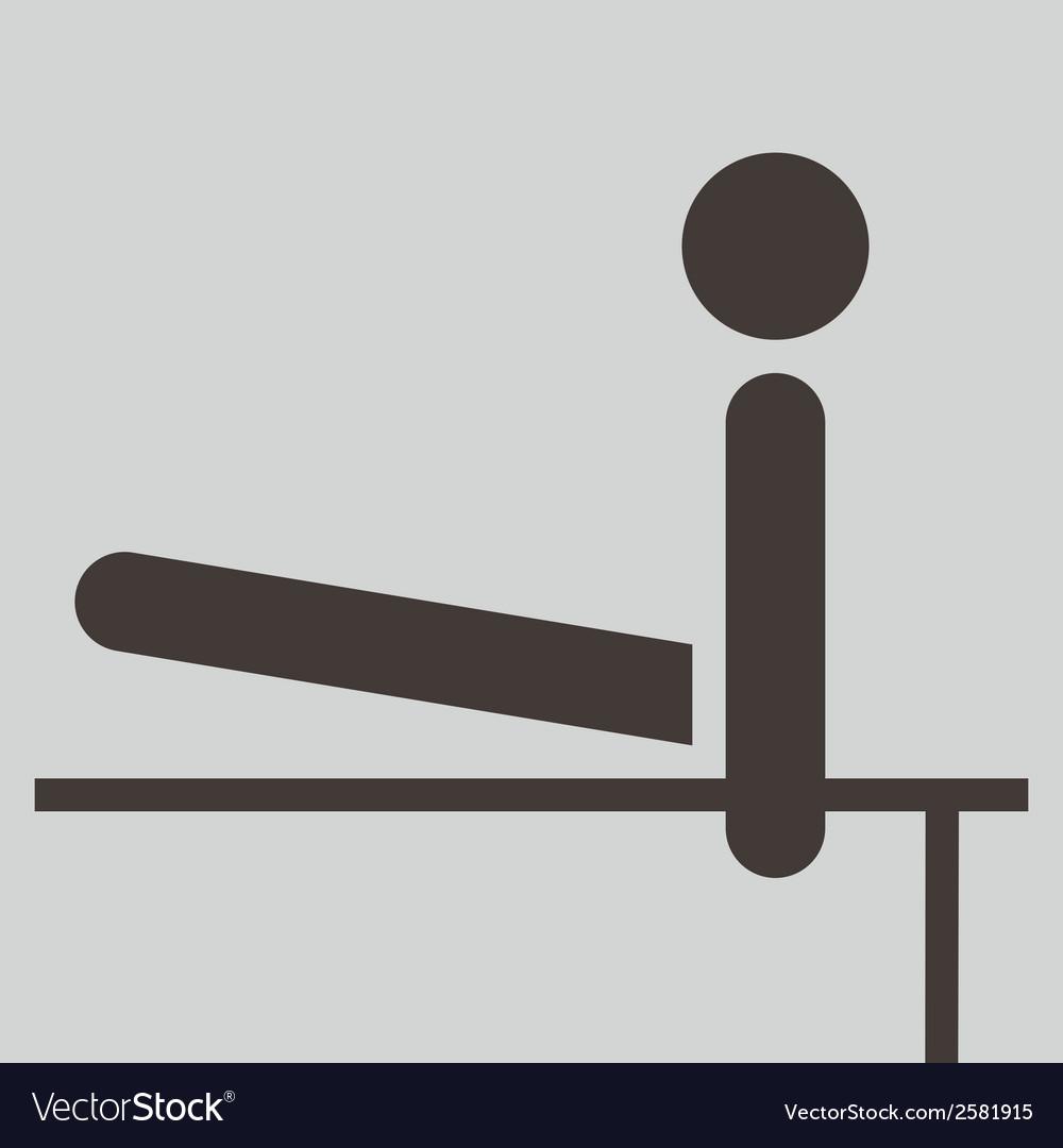 2273 gymnastics artistic icon vector | Price: 1 Credit (USD $1)