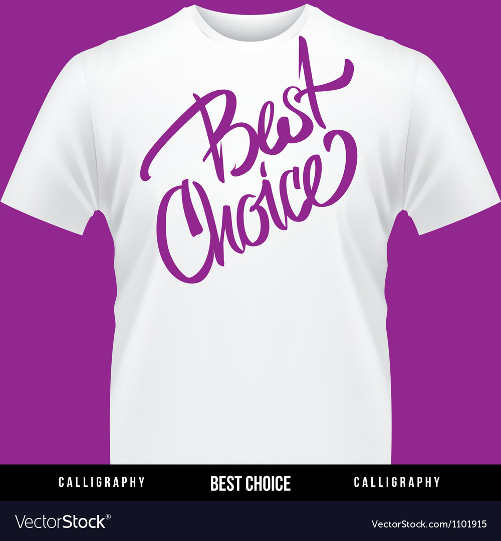 Best choice hand lettering - handmade calligraphy vector | Price: 1 Credit (USD $1)