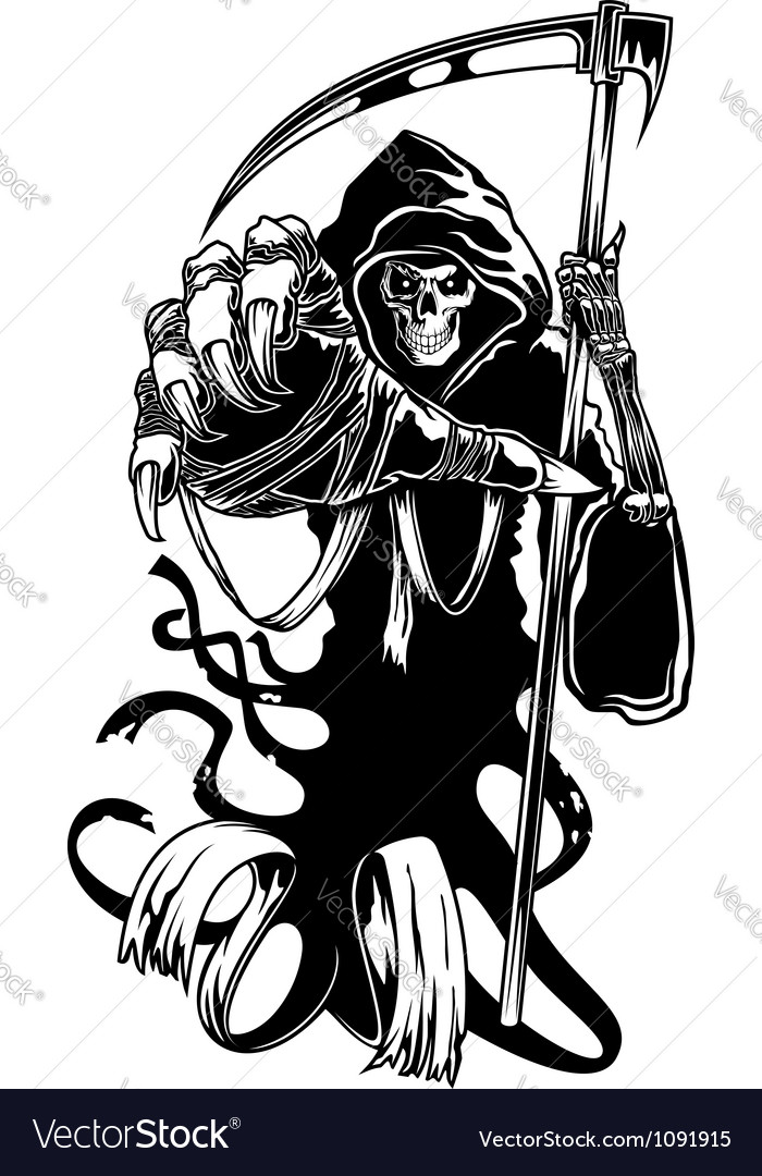 Black death with scythe vector | Price: 1 Credit (USD $1)