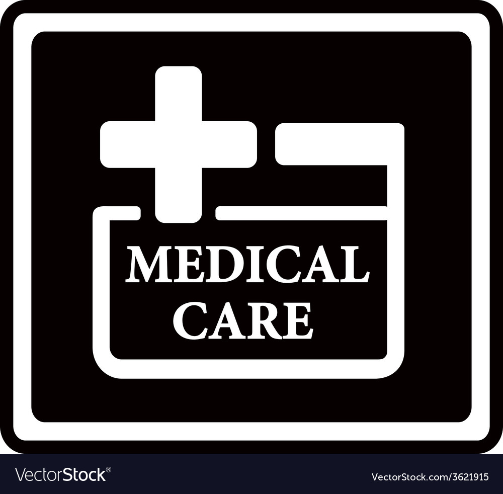 Black medical care icon vector | Price: 1 Credit (USD $1)