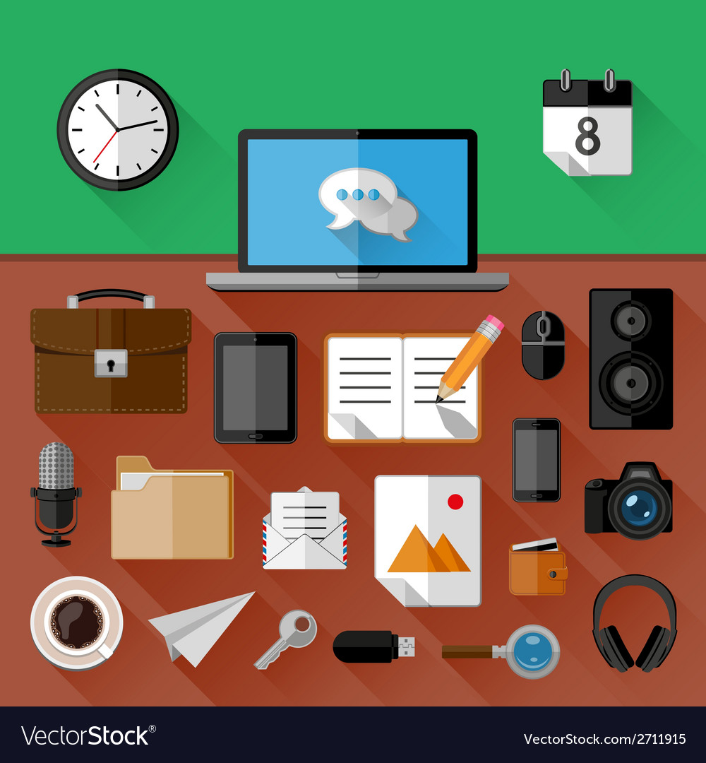 Concept of workplace vector | Price: 1 Credit (USD $1)