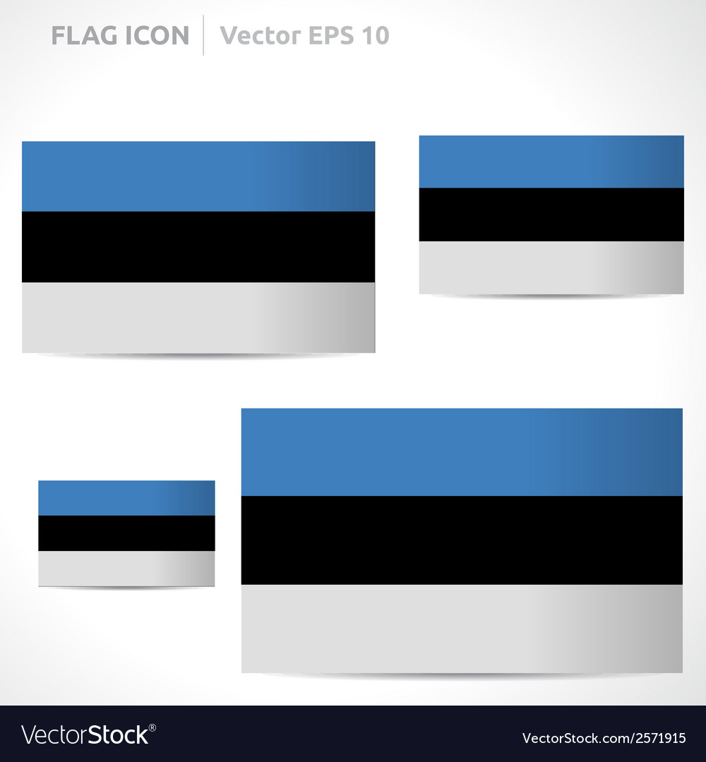 Estonia flag template vector | Price: 1 Credit (USD $1)