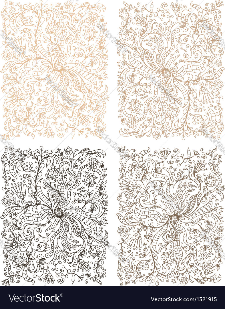 Floral ornament hand drawn sketch for your design vector   Price: 1 Credit (USD $1)