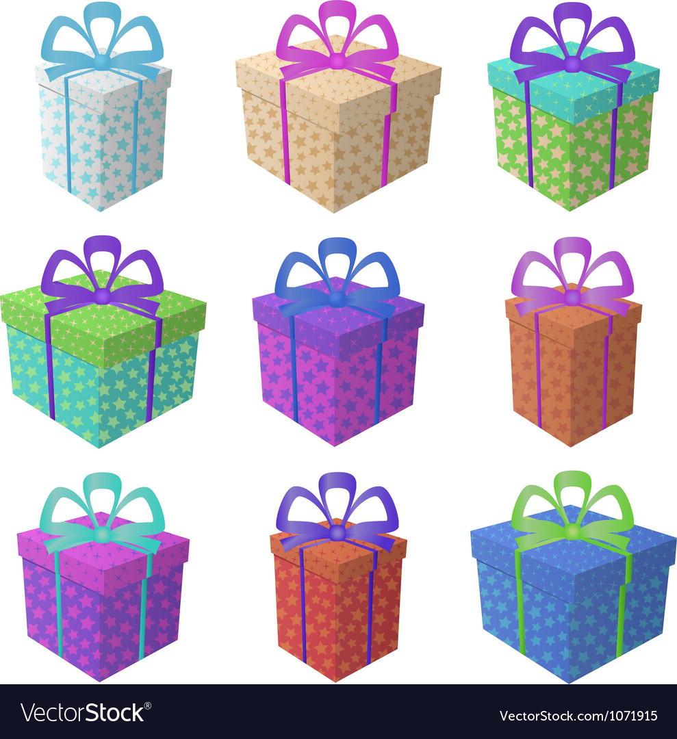 Gift holiday boxes vector | Price: 1 Credit (USD $1)