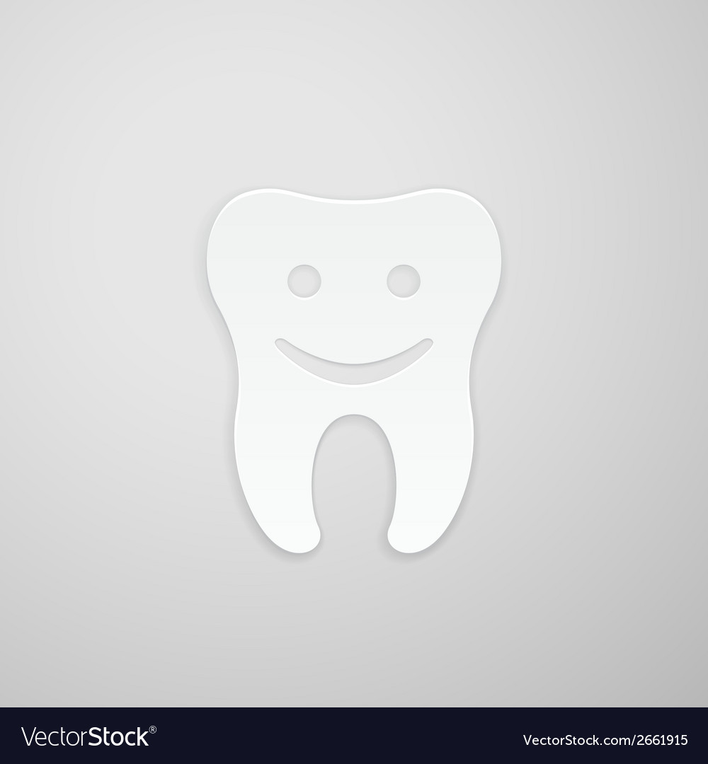 Happy tooth vector | Price: 1 Credit (USD $1)