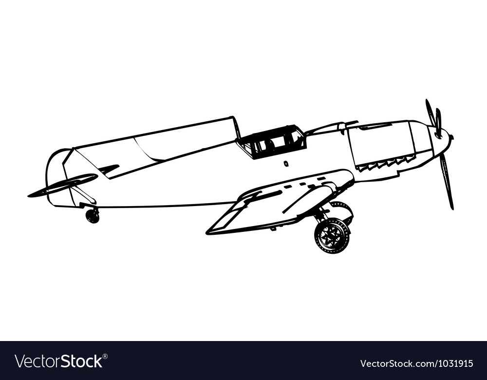 Messerschmitt bf109 trop figter vector | Price: 1 Credit (USD $1)