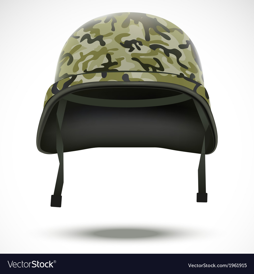 Military helmet with camo pattern vector | Price: 1 Credit (USD $1)