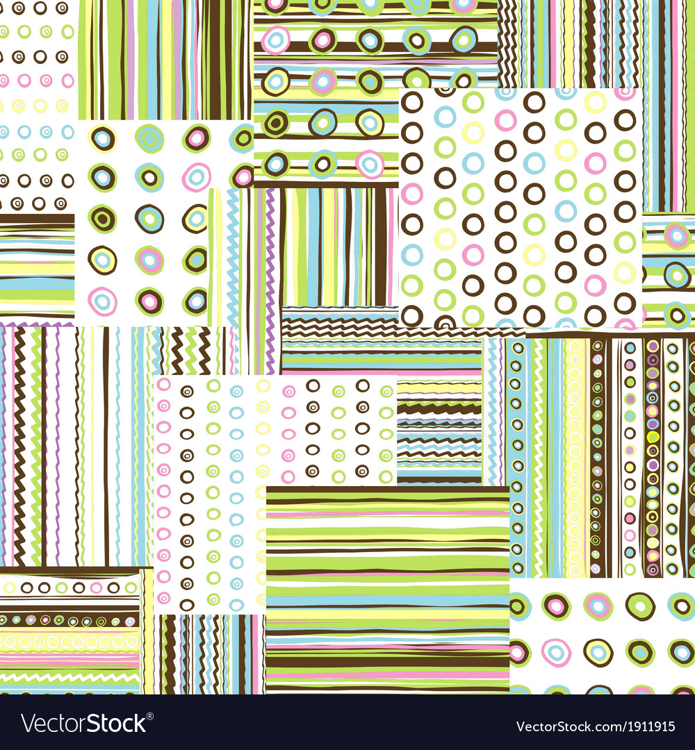 Patchwork fabric background vector | Price: 1 Credit (USD $1)