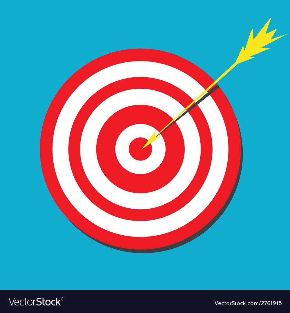 Red darts target aim vector | Price: 1 Credit (USD $1)
