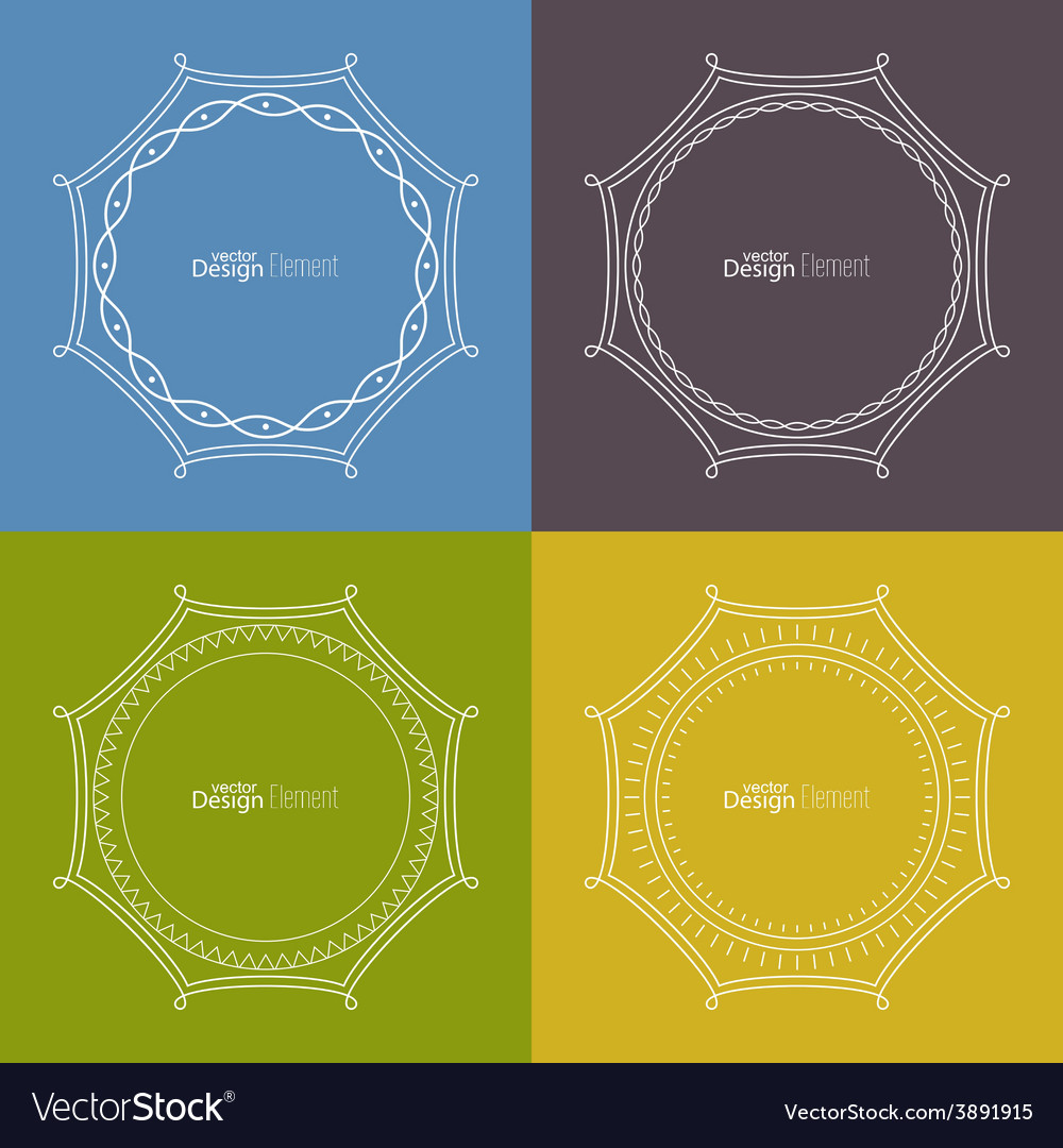 Set framework for multi colored backgrounds vector | Price: 1 Credit (USD $1)