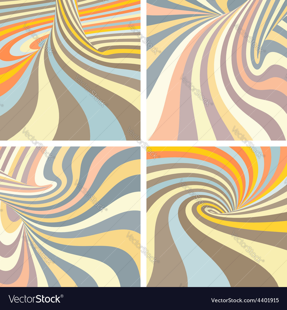 Set of colorful striped projection on torus vector | Price: 1 Credit (USD $1)
