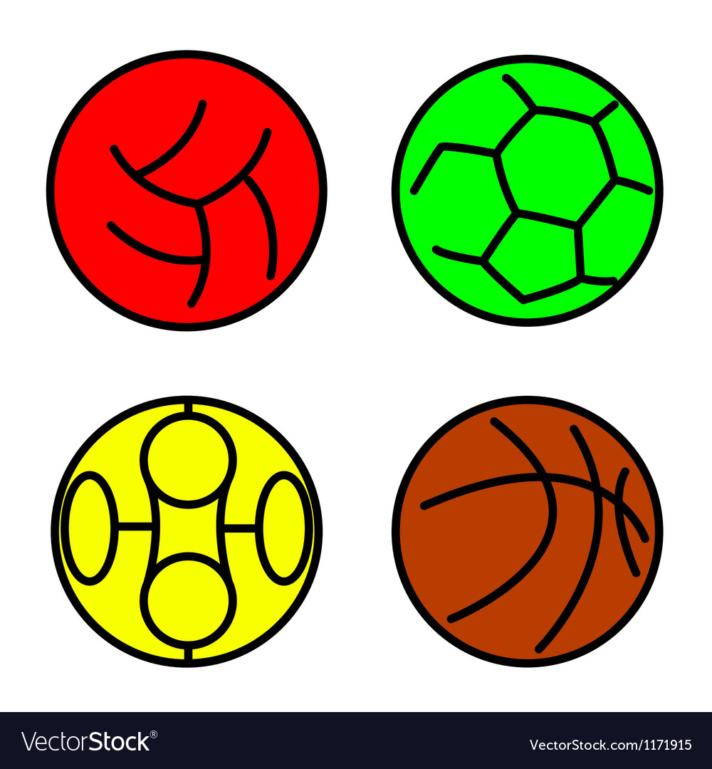 Set sport balls vector | Price: 1 Credit (USD $1)