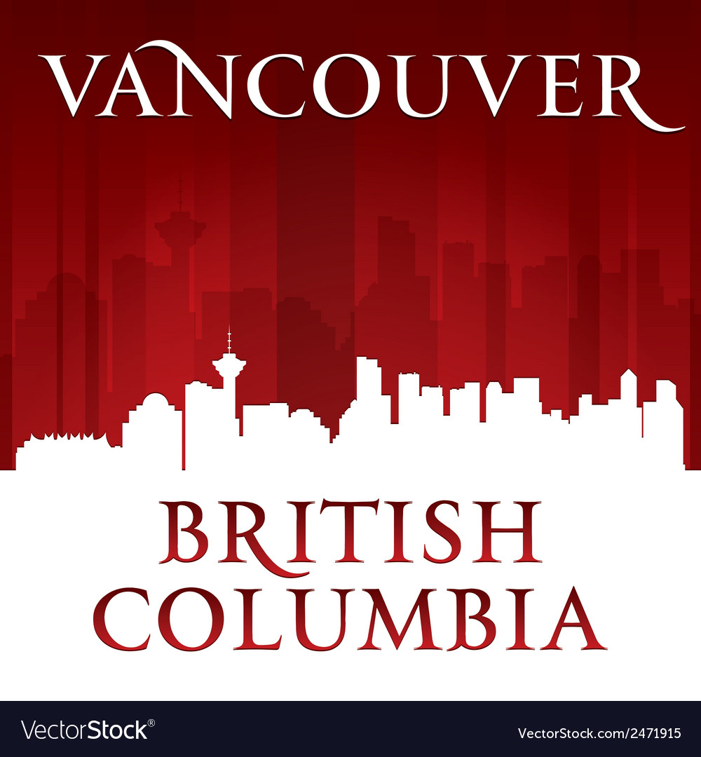 Vancouver british columbia canada city skyline sil vector | Price: 1 Credit (USD $1)