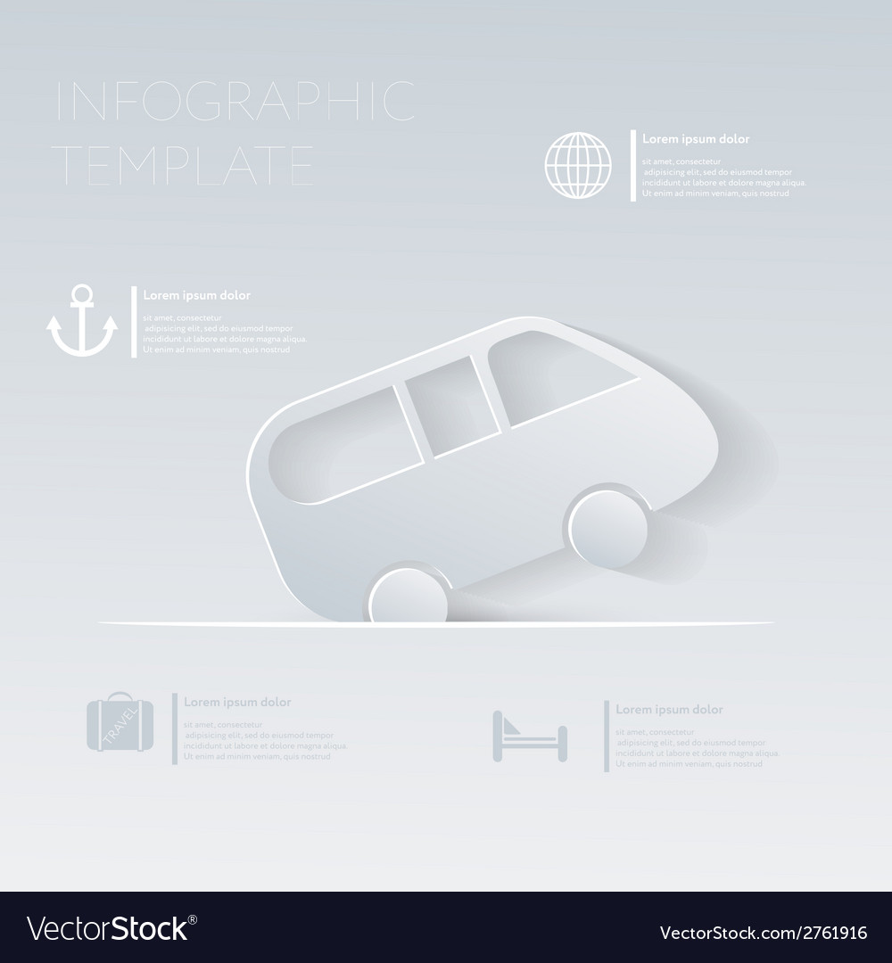 Car travel theme holidays template infographic or vector | Price: 1 Credit (USD $1)