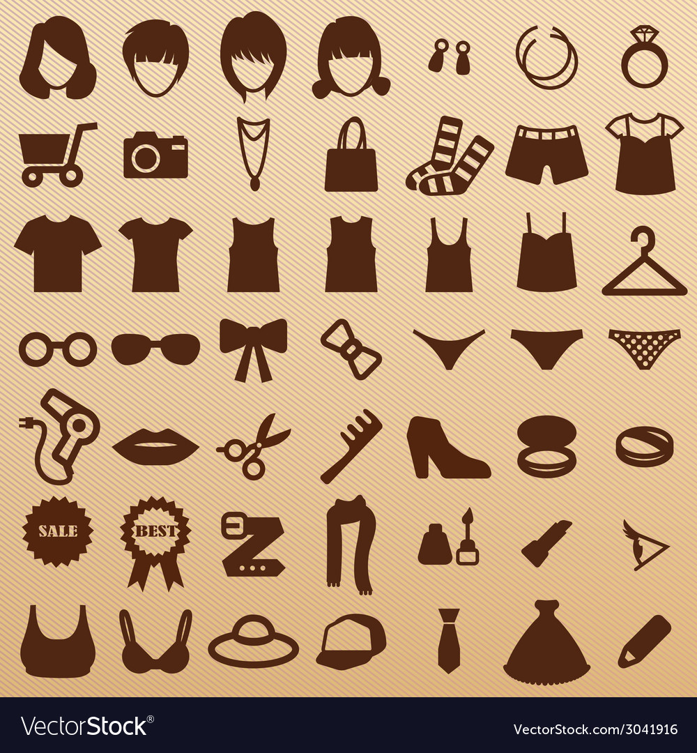 Fashionsymbols vector | Price: 1 Credit (USD $1)