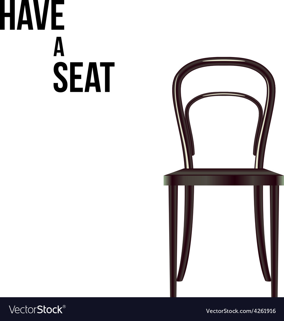 Have a seat chair isolated on white vector | Price: 1 Credit (USD $1)