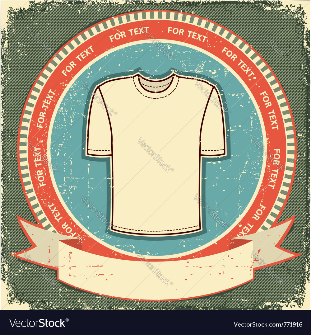 Retro t-shirt label vector | Price: 1 Credit (USD $1)