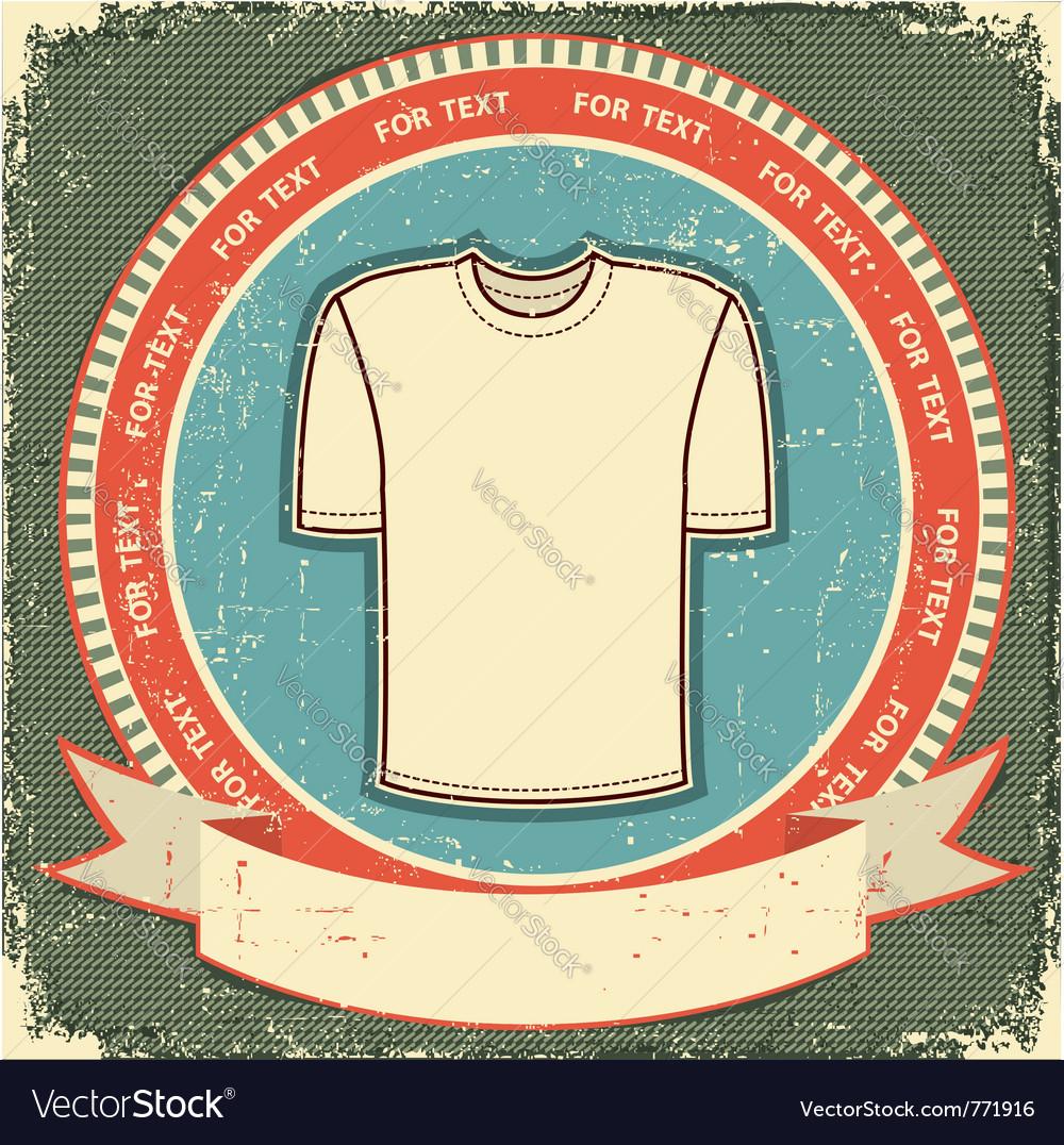 Retro t-shirt label vector | Price: 1 Credit (USD $1)