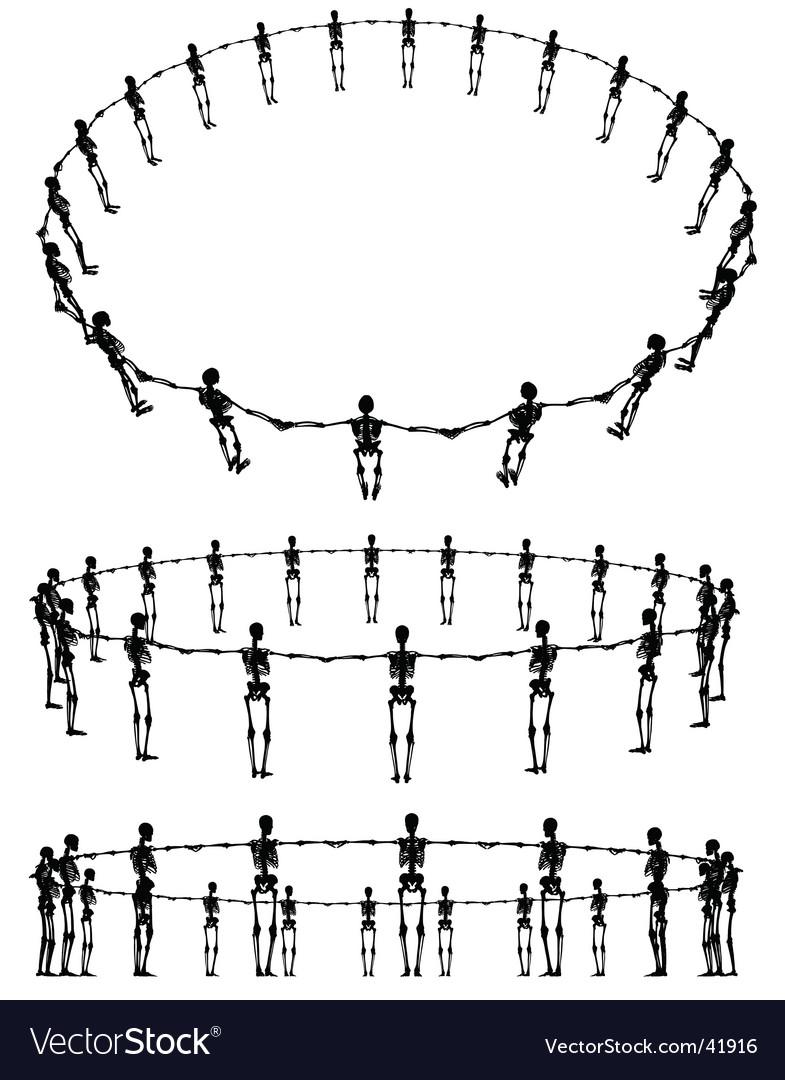 Skeleton rings vector | Price: 1 Credit (USD $1)