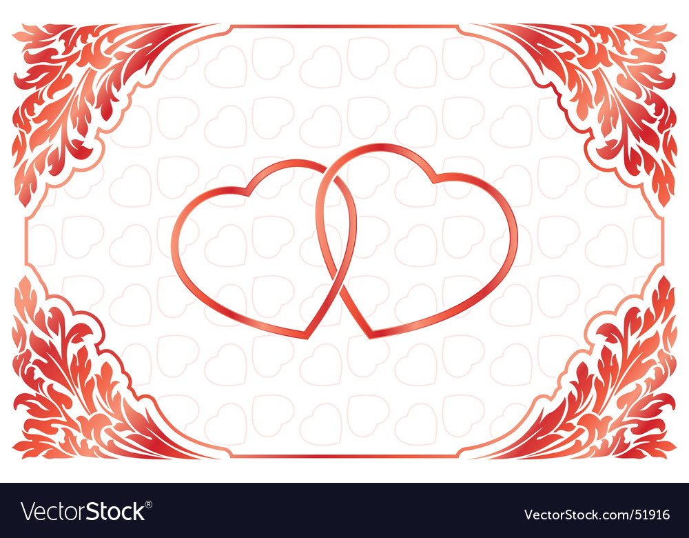 Valentine hearts linked vector | Price: 1 Credit (USD $1)