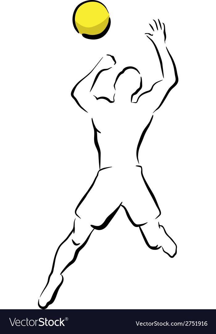 Volleyball smash vector   Price: 1 Credit (USD $1)